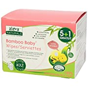 Aleva Naturals Bamboo Fibre, Chlorine free, Paraben free, Strong, Soft, Eco-friendly, Unbleached, Biodegradable Baby Sensitive Wipes 432 Count