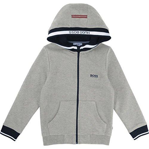 BOSS Gray Fleece Cardigan Jacket by BOSS