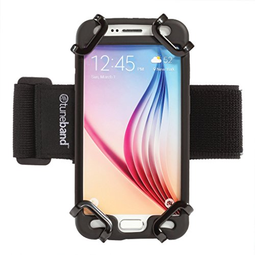 TuneBand Go for iPhones (All Models), Android Phones (Including Samsung), iPod Touch, HTC & Others - Premium Universal Armband with Two Elastic Straps (Case Recommended. See Below for Dimensions).