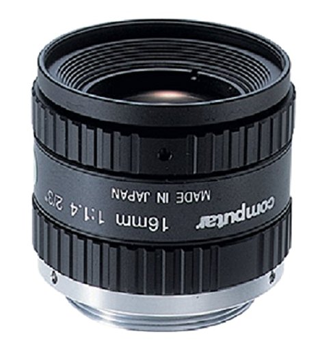 Computar M1614-MP2 2/3 Inch Megapixel 16mm Lens with Fixed Focal Length F1.4 Manual Iris by Computar