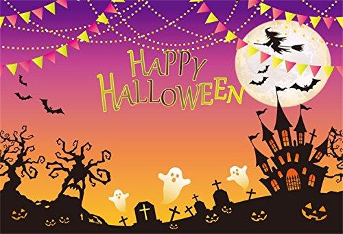 Laeacco Happy Halloween Backdrop 7x5ft Vinyl Photography Background