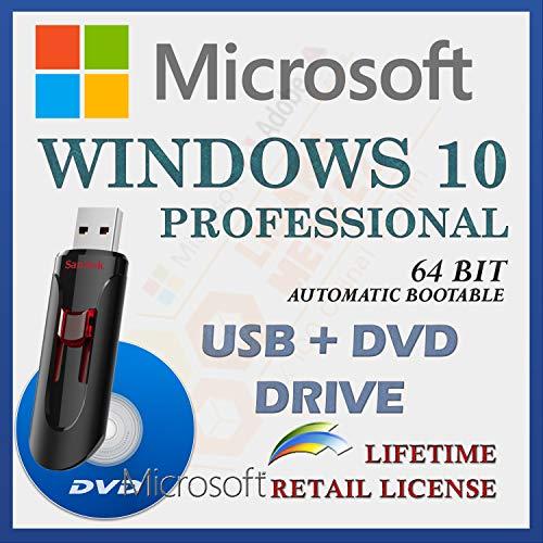 MS Windows 10 Professional Retail Sale-licentie | Met USB- en dvd-station | Met factuur | 64 Bit | Automatische…