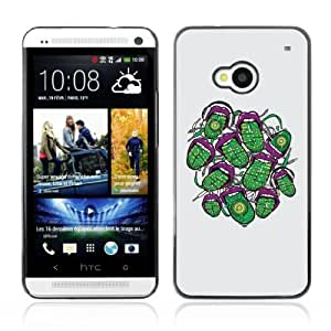 Designer Depo Hard Protection Case for HTC One M7 / Cool Abstract Neon Tongue