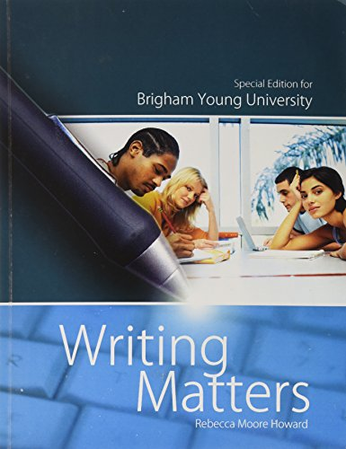 Writing Matters Special Edition for Brigham Young (Brigham Young University)