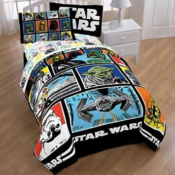 Star Wars Classic Comforter and Sheets Bedding Set (Full Size)