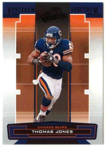Football Jones Thomas Nfl (Thomas Jones (Football Card) 2005 Playoff Absolute Memorabilia Spectrum Black Retail # 30)