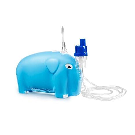 NINI Inhalación Nebulizador Silencioso Compresor De Aire Portátil Profesional Hogar Y Médico Bebé Elefante Forma Azul