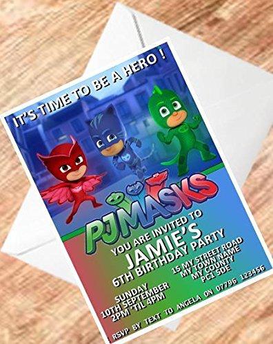 Pj Masks Design 2 Inviti Per Compleanno Invito Per Compleanno 250 G