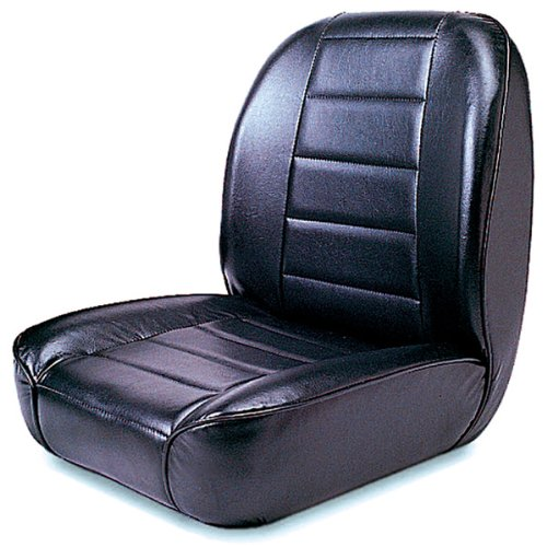 Bucket Seat Trim Parts - Rugged Ridge 13400.01 Standard Black Low Back Front Seat