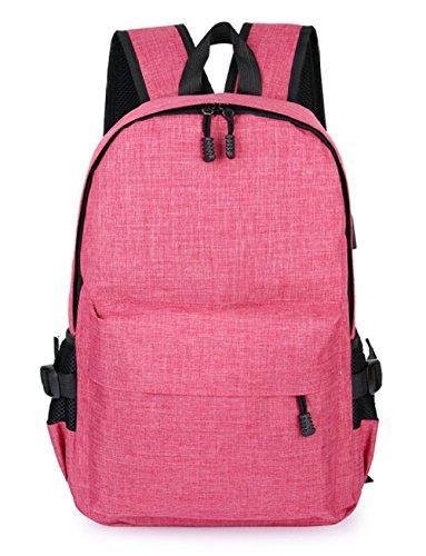35L Hohe Kapazität Doppel-Schulter-Rucksack Anti-Diebstahl-Rucksack Smart USB Lade Umhängetasche Computer Tasche Reisetasche,DarkBlue Pink