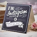 Ginger Ray Vintage Affair If You Instagram Chalkboard Style Card Signs for Wedding or Parties, Black