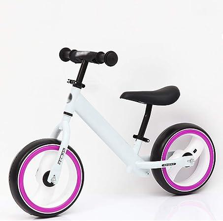 SJY con una Bicicleta Flash Balance Balance, Bicicleta de Entrenamiento sin Pedal para Caminar, Dos Rondas 2-6 años Baby Yo Car Lightweight Bicicleta para niños (Amarillo),Blanco: Amazon.es: Hogar
