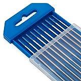 "TIG Welding Tungsten Electrodes 2% Lanthanated 1/16"" x 7"" (Blue, WL20) 10-Pack"