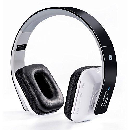 WanEway Bluetooth Over-Ear Kopfhörer, Drahtlose Stereo Headphones mit Integriertem Mikrofon, TF Karte, FM Radio und Mitgelieferte Audio-Kabel für Tablets, Notebooks, Samsung, HTC, Sony, Nokia, LG, Huawei, IPhone Handys / Smartphones