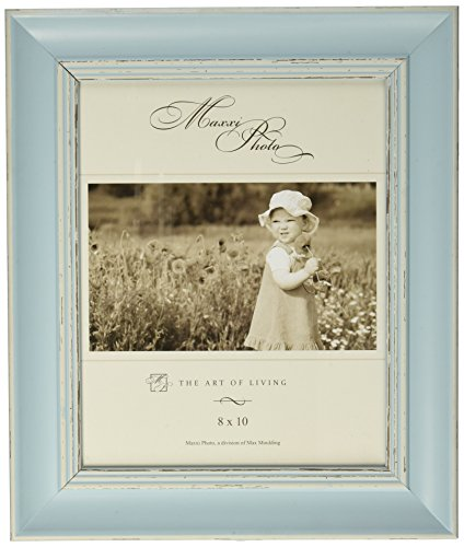 Maxxi Designs Photo Frame with Easel Back, 5 x 7, Pastel Blue Verona