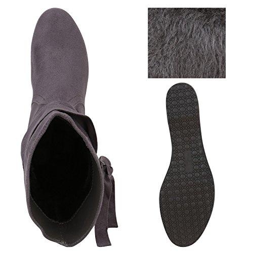 Japado - Botas plisadas Mujer gris