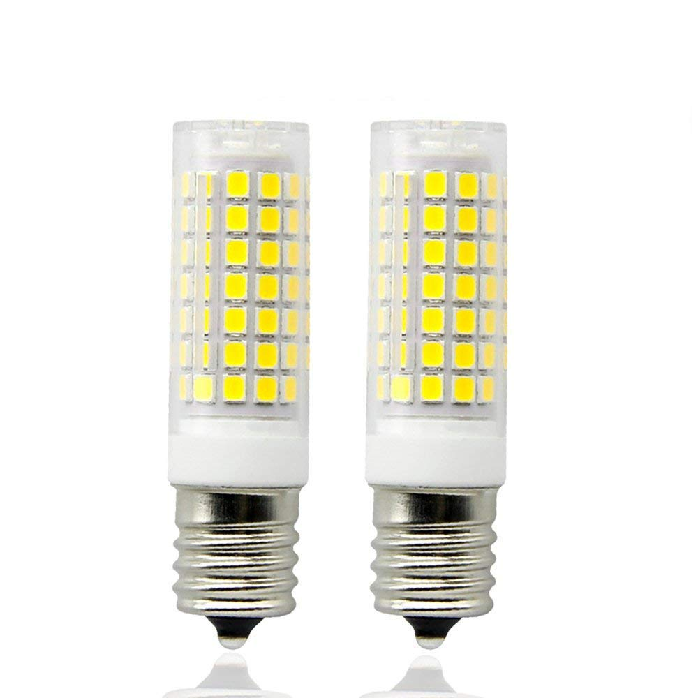 E17 LED Bulbs, Dimmable 8.5 Watt Daylight White 6000K, Intermediate Base Led Bulb, Low Power Consumption, AC 110V for Microwave Oven, Freezer and Suitable Style Fixtures in Kitchen (2 Pack)