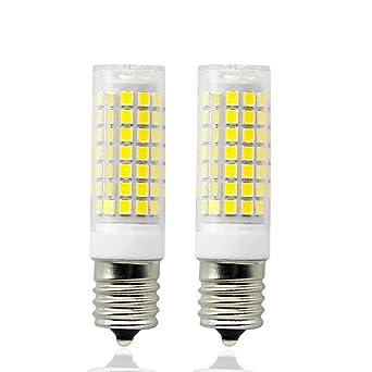 E17 LED microondas bombilla 8,5 W luz blanca cálida 3000 K Base ...