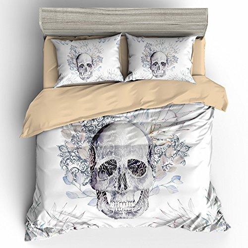 bomcom-3d-digital-printing-retro-watercolor-paisley-skull-in-flowers-3-piece-duvet-cover-sets-100-mi