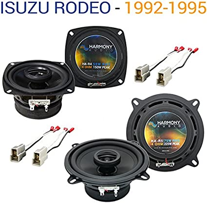 """Harmony Audio HA-R5 Car Stereo Rhythm 5.25/"""" Replacement 225W Speakers /& Grills"""