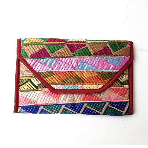 Assortiti rigenerata Phulkari patch ricamate stringa di nylon Mix Cotone Borsa