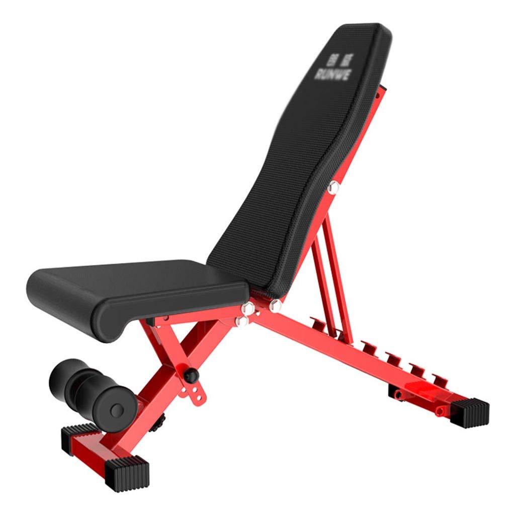 腹筋器具 ダンベルベンチフィットネス折りたたみチェア仰向けのボードの重量ベンチフィットネス機器 (Color : Red, Size : 106 * 32 * 114cm) 106*32*114cm Red B07HD6VTJV