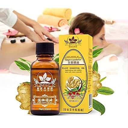 Aceite Esencial Jengibre - 60ml - 100% Puro Drenaje linfático Aceite de jengibre, para