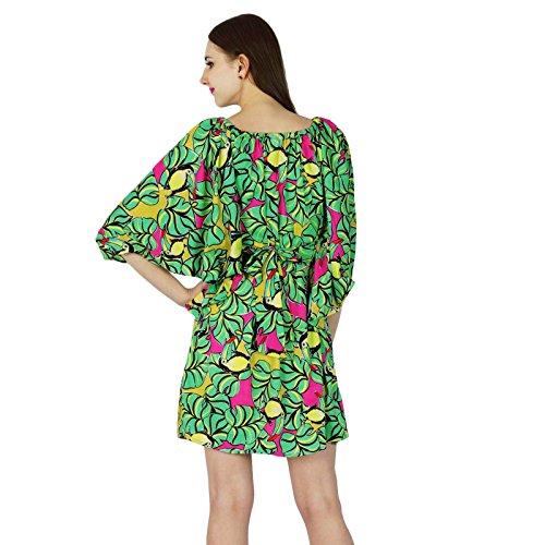 Beiläufiges Sommer Kleid Printed Baumwolle Neue Partei Kittel Frauen ...