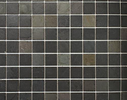 Mosaico de piedra natural, 100 x 50 cm) – azulejo 5 x 5 cm Mixta piedra de lava: Amazon.es: Bricolaje y herramientas