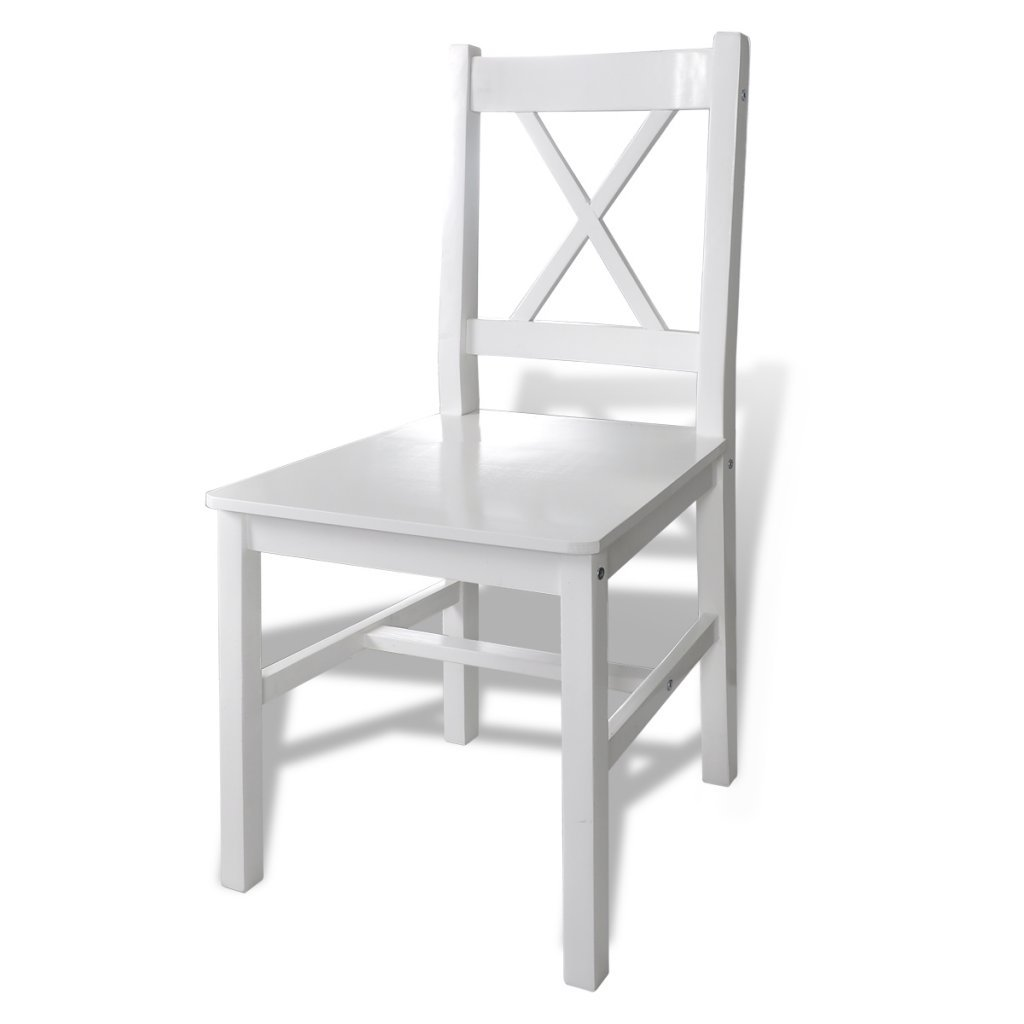 set of four wooden chairs. vidaxl 1 wooden table with 4 chairs home dining room furniture set white: amazon.co.uk: kitchen \u0026 of four
