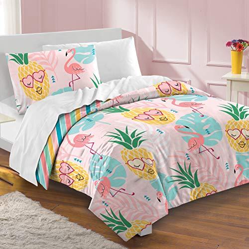 dream FACTORY Pineapple Full/Queen Comforter Set Pink