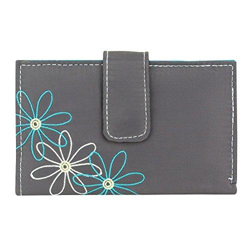 Travelon Safe Id Daisy Tri-fold Wallet, Pewter