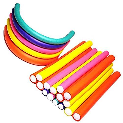 42 Pack Twist-flex Rods 7 Sizes Flexible Curl Sponge Flexi Hair Roller Set Hair Foam Curler Hot Roller Set(Random Color) Allure Maek