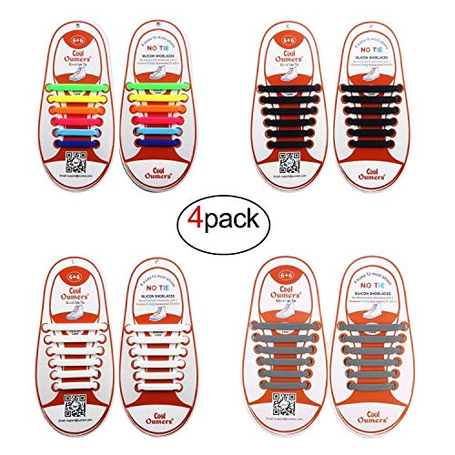 Oumers Shoelace Silicone Shoelaces Waterproof