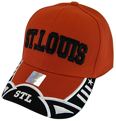 St. Louis Men's Stars & Stripes Adjustable Baseball Cap (Red/Black) ()
