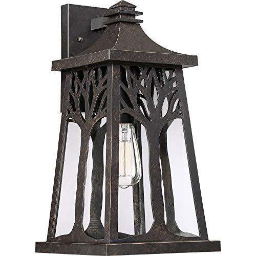 - Quoizel WWD8409IB Wildwood Outdoor Wall Sconce Lighting, 1-Light, 150 Watt, Imperial Bronze (18