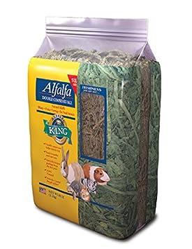 Alfalfa King doble comprimido Alfalfa Heno Bale pequeño animal comida 11.36 kg: Amazon.es: Productos para mascotas
