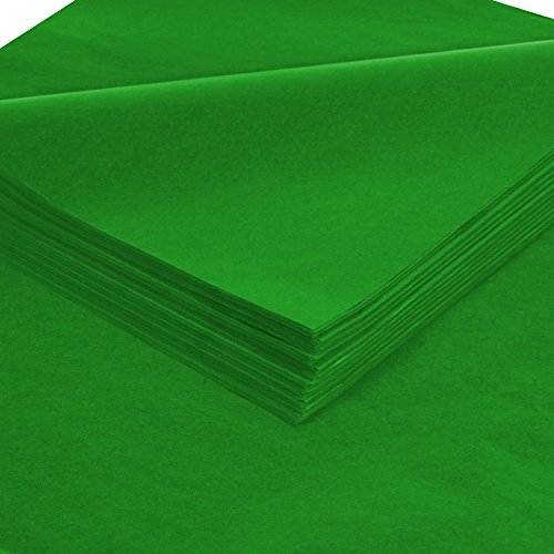 BOX USA BT2030L Tissue Paper, Gift Grade, 20'' x 30'', Holiday Green (Pack of 480) by BOX USA