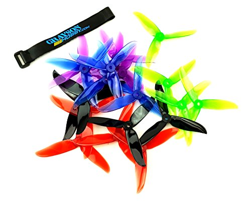 Cyclone Racing - DALPROP 5 Pack (20pcs) Cyclone T5046C 5046 3 Blades (5.0 x 4.6) 10 x CW | 10 CCW Props for FPV Racing Quadcopter - 5 Complete Sets