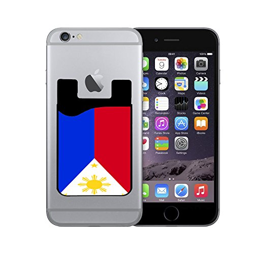 Silicone Card Caddy Credit Card Phone Wallet for Most Smartphones By InfoposUSA Philippines Flag