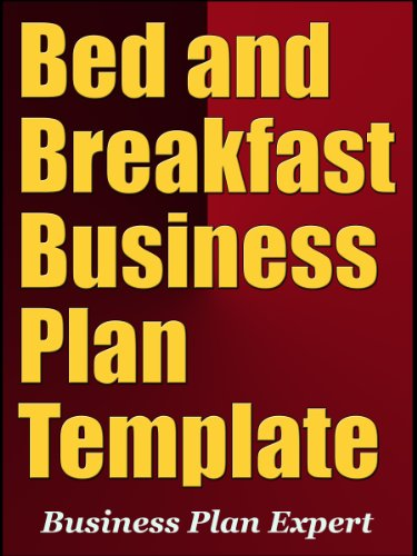 Amazon Com Bed And Breakfast Business Plan Template Ebook