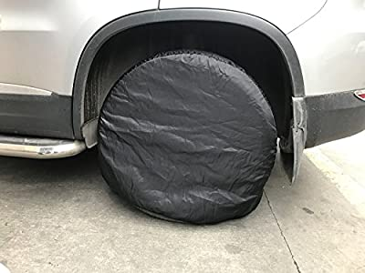 """26""""-29"""" Tire Wheel Cover, Wanty 4 Pack Tough Vinyl Tire Protector for Car, Jeep, Truck, SUV, Trailer, Camper, RV"""