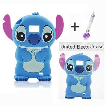 414bf7aee114e Bleu 3D Stitch Étui Coque En Silicone + Charme de téléphone Pour Samsung  Galaxy S2 II