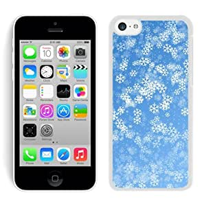 Special Custom Made Iphone 5C TPU Case Christmas Snowflake White iPhone 5C Case 7