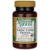 Swanson Wildcrafted Camu Camu Berries 500 Milligrams 60 Capsules