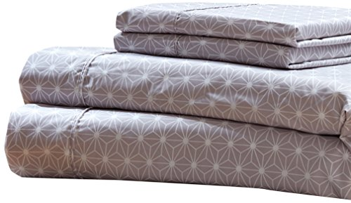 RT Designers Collection Solar Printed 4-Piece Sheet Set, King by RT Designers Collection