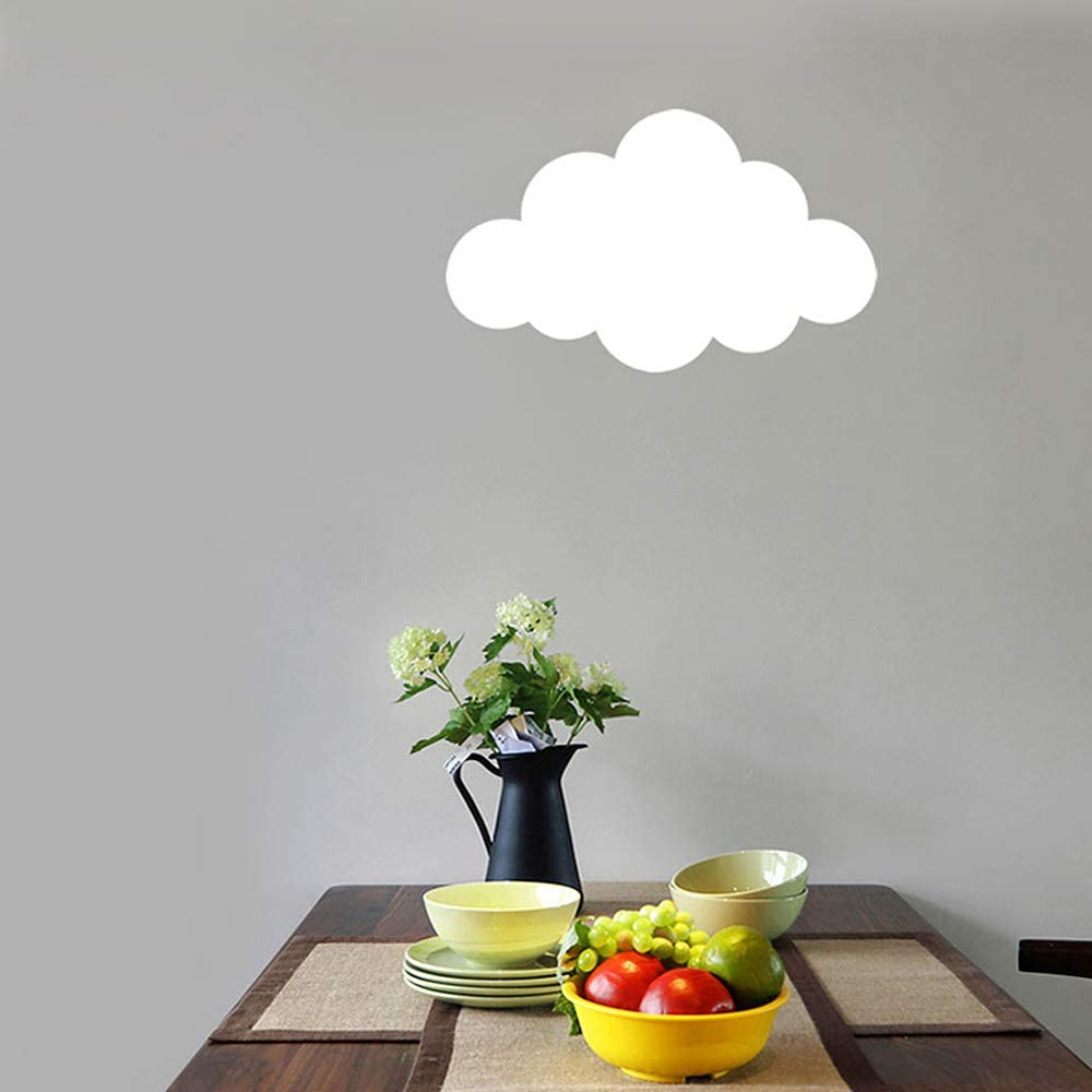 Ladiqi Modern LED Wall Lights Creative Lovely Cloud Shape Indoor Wall Sconce Lighting Fixture Wall Night Light Lamp White for Kids Bedroom Study Room