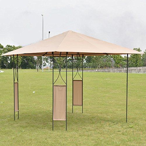 10 X10 Square Gazebo Canopy Tent Shelter Awning Garden