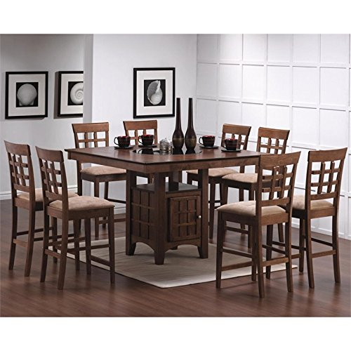 Coaster Mix and Match 9 Piece Counter Height Dining Set in Walnut