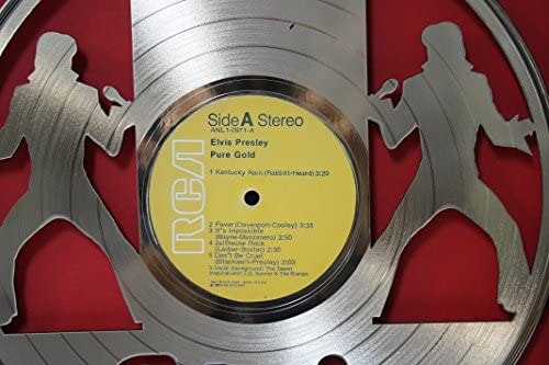 """Elvis Presley /""""Pure Gold/"""" Laser Cut Gold LP Record Limited Edition Wall Art"""